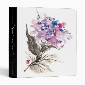 Cool oriental chinese classic watercolor flowers binder