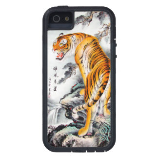 Cool oriental chinese fluffy tiger watercolor ink iPhone SE/5/5s case