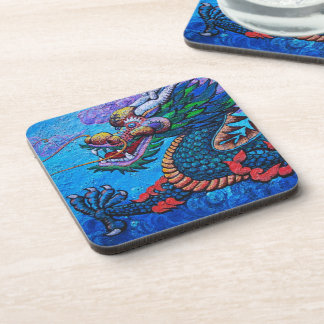 Cool oriental chinese oil colourful dragon paint drink coasters