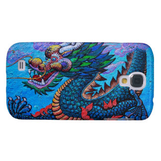 Cool oriental chinese oil colourful dragon paint samsung galaxy s4 cover