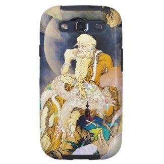 Cool oriental chinese Old Wise Master Sage art Galaxy S3 Cases