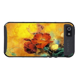 Cool oriental chinese red poppy flower watercolor cases for iPhone 5