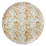 Cool oriental chocolate sand abstract pattern plate