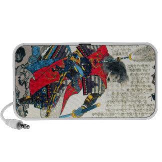 Cool oriental classic japanese samurai warrior art iPhone speaker