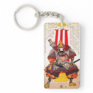 Cool oriental classic japanese samurai warrior acrylic keychain