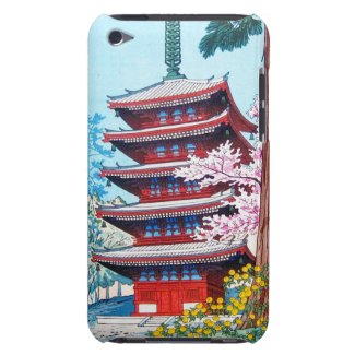 Cool oriental classic japanese Shrine temple art Barely There iPod Cases