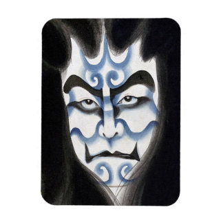 Cool oriental classic kabuki deamon makeup art magnet