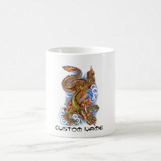 Cool Oriental Dragon and Clouds Coffee Mug
