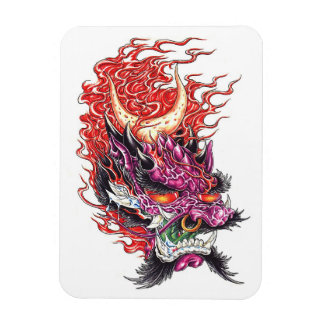 Cool Oriental Dragon Deamon Face magnet