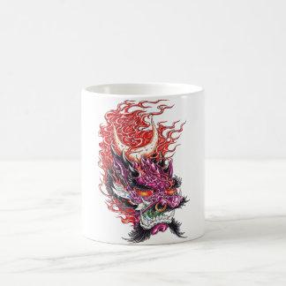 Cool Oriental Dragon Deamon Face mug