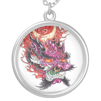Cool Oriental Dragon Deamon Face necklace