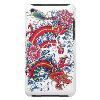 Cool Oriental Dragon Lotus Flower tattoo art iPod Touch Covers