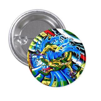 Cool Oriental Dragon tattoo Button
