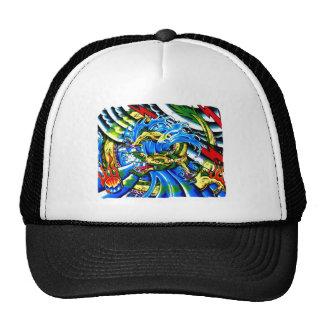 Cool Oriental Dragon tattoo Mesh Hat