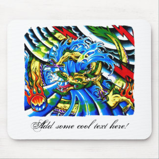 Cool Oriental Dragon tattoo Mouse Pad