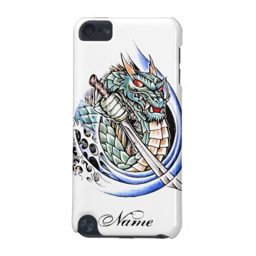 Cool oriental dragon with sword tattoo ipod touch 5th for Generation 8 tattoo