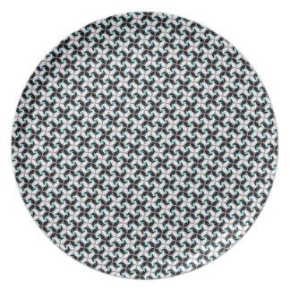 Cool oriental elegant flower shurinken ninja star plate