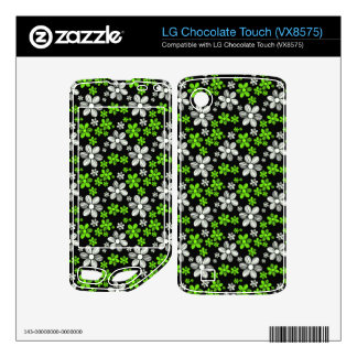 Cool oriental girly daisy flower floral pattern LG chocolate touch skins