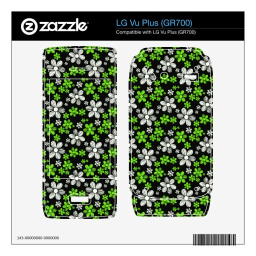 Cool oriental girly daisy flower floral pattern decal for LG vu plus