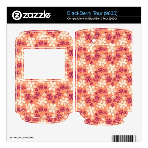 Cool oriental girly daisy flower floral pattern skin for the BlackBerry