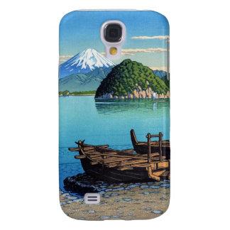 Cool oriental Hasui Kawase Fuji seaside boat art Galaxy S4 Case