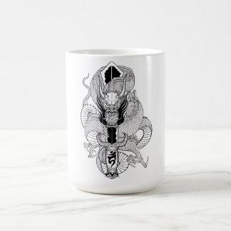 Cool Oriental Ink Black Dragon tattoo Coffee Mug