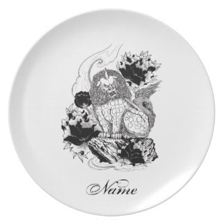 Cool Oriental Ink Mythical Lion tattoo Dinner Plate
