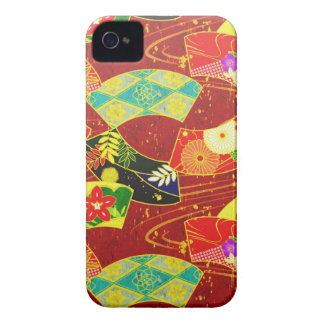 Cool oriental japanese abstract vibrant pattern iPhone 4 covers