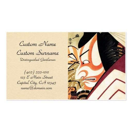 Cool oriental japanese actor Kabuki Samurai art Business