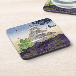 Cool oriental japanese Ancient Castle Palace art Drink Coaster