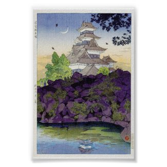Cool oriental japanese Ancient Castle Palace art Posters