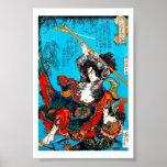 Cool oriental japanese Ancient Samurai Warrior Jo Poster