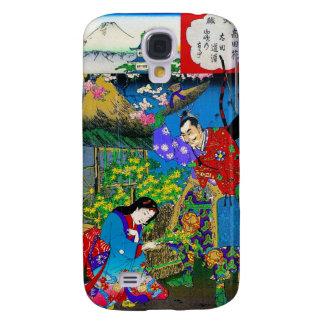 Cool oriental japanese beautiful geisha garden art galaxy s4 cover