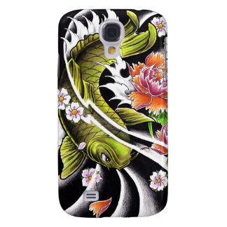 Cool oriental japanese black ink lucky koi fish galaxy s4 case