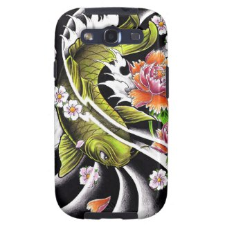 Cool oriental japanese black ink lucky koi fish samsung galaxy SIII cover