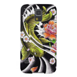Cool oriental japanese black ink lucky koi fish cases for galaxy s5