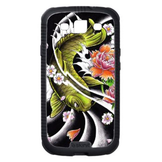 Cool oriental japanese black ink lucky koi fish galaxy s3 case