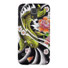 Cool oriental japanese black ink lucky koi fish galaxy s5 cover