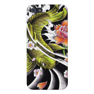 Cool oriental japanese black ink lucky koi fish iPhone SE/5/5s case