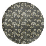 Cool oriental japanese black tree shape pattern dinner plates