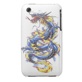 Cool Oriental Japanese Blue Dragon tatttoo iPhone 3 Cover