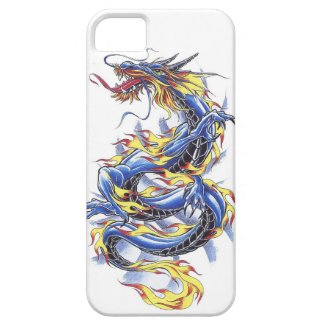 Cool Oriental Japanese Blue Dragon tatttoo iPhone SE/5/5s Case