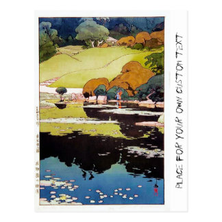 Cool oriental japanese Botanical garden Lake scene Postcard