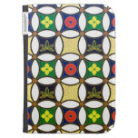 Cool oriental japanese circle flower pattern kindle cover