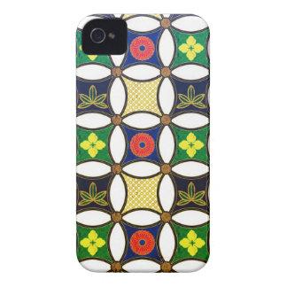 Cool oriental japanese circle flower pattern iPhone 4 Case-Mate case