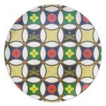 Cool oriental japanese circle flower pattern plates