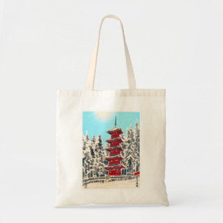 Cool oriental japanese clasic ancient shrine art bag