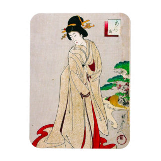 Cool oriental japanese clasic geisha lady art magnet