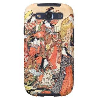 Cool oriental japanese classic geisha ladies art samsung galaxy SIII covers