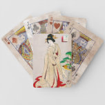 Cool oriental japanese classic geisha lady art bicycle playing cards